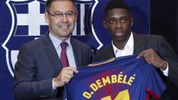Barcelona stellt Neuzugang Dembélé vor