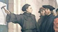 If I had a hammer: Ferdinand Pauwels 'Luthers schlägt die Thesen an' von 1871/72.