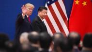 Da waren sie sich noch einig: Donald Trump und Xi Jinping Mitte November gemeinsam in Peking