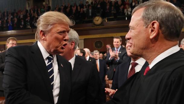 Präsidentenschelte vom Obersten Richter