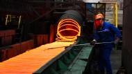 Stahlarbeiter in China