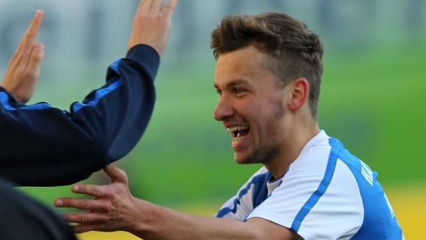 Es geht aufwärts für Hansa: Tom Weilandt, Schütze des ersten Rostocker Treffers gegen Düsseldorf