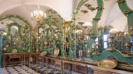 Ein Zimmer des Grünen Gewölbe im Dresdner Schloss der Staatlichen Kunstsammlungen Dresden.