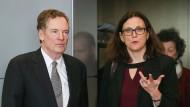 EU-Handelskommissarin Cecilia Malmström und der amerikanische Handelsvertreter Robert Lightizer haben einiges zu bereden.
