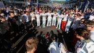 Geste des Mitgefühls: Formel-1-Rennfahrer hoffen gemeinsam für Jules Bianchi