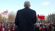 Jeremy Corbyn bei einer Ansprache vor seinen Anhängern in Bristol.
