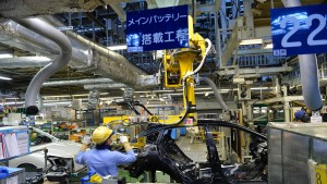 Japans Industrie schrumpft