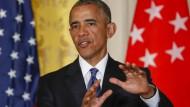 Deutlich: Barack Obama auf einer Pressekonferenz in Washington am Dienstag