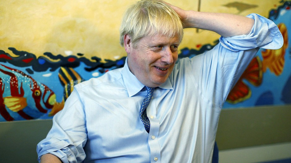 Boris Johnson am Montag zu Besuch im Royal Cornwall Hospital in Truro