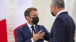 Macron sichert Tichanowskaja Hilfe zu