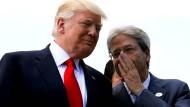 Sizilien, Donald, nicht Grönland! Hat der damalige italienische Ministerpräsident Paolo Gentiloni das dem amerikanischen Präsidenten womöglich schon bei dessen Besuch beim G7-Gipfel im Mai 2017 im sizilianischen Taormina zugeflüstert?
