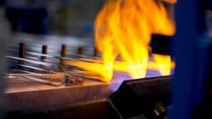 Volles Rohr bei 1500 Grad Celsius