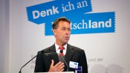 Professor Dr. Norbert Bolz, Medienwissenschaftler TU Berlin, während einer Rede in 2011.