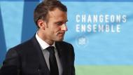 Präsident Emmanuel Macron steht unter Druck