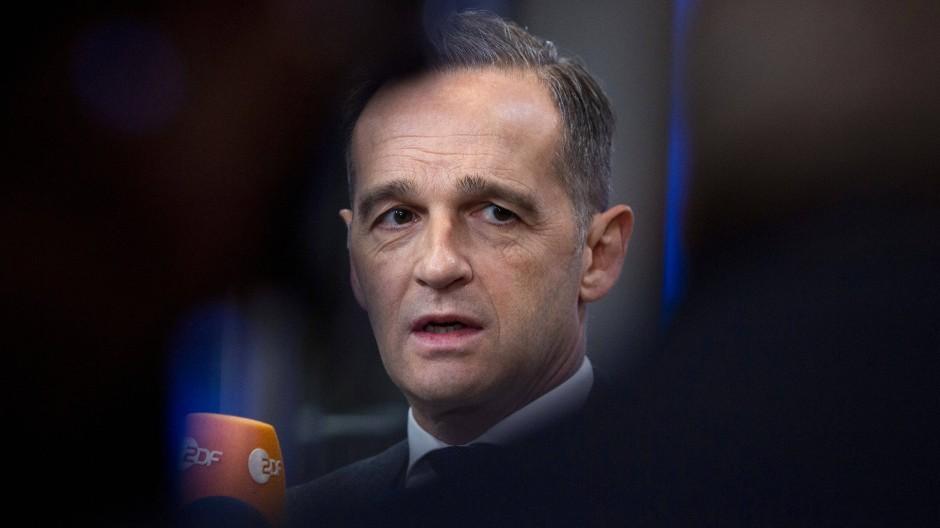 Deutschlands Außenminister Heiko Maas am Montag in Brüssel vor dem Treffen der EU-Außenminister