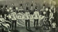 Letzte Wache: Jakob Frank auf dem Totenbett mit seiner Ulanen-Garde