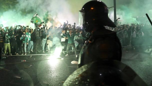 Gewalt bei Meisterfeier von Sporting Lissabon
