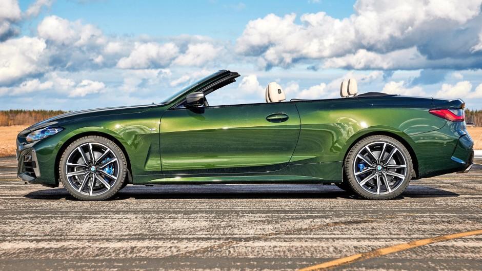 Das neue Vierer-Cabriolet von BMW kommt wieder mit einem Stoffdeck.