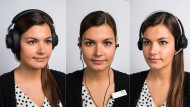 Drei Mal mit Geräuschunterdrückung und ohne Kabel zum Smartphone