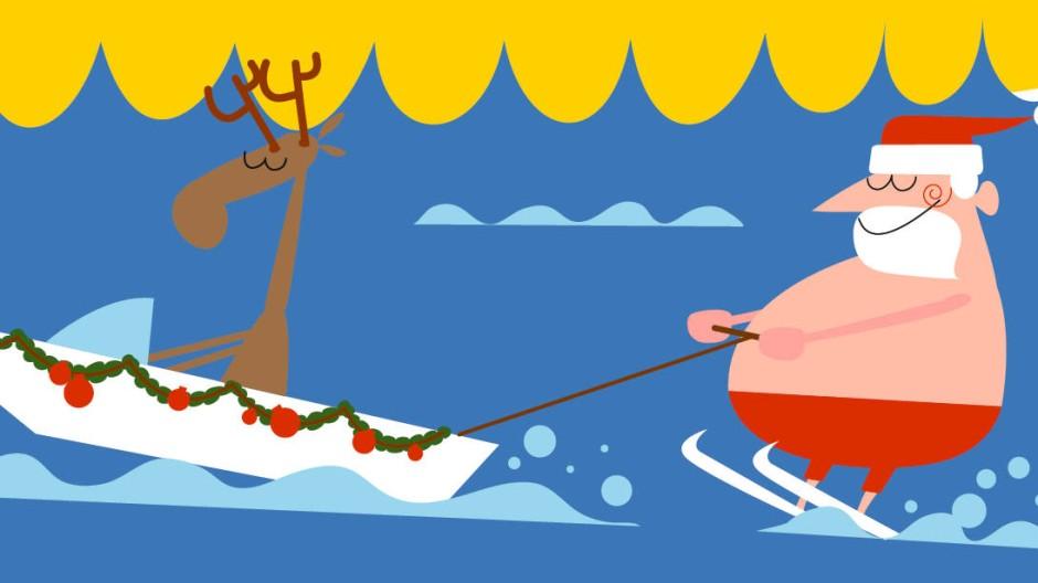 Cartoon Weihnachtsgeschenk Clipart Bilder Vektor