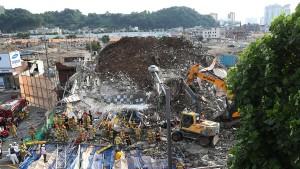 Neun Tote bei Gebäudeeinsturz in Südkorea