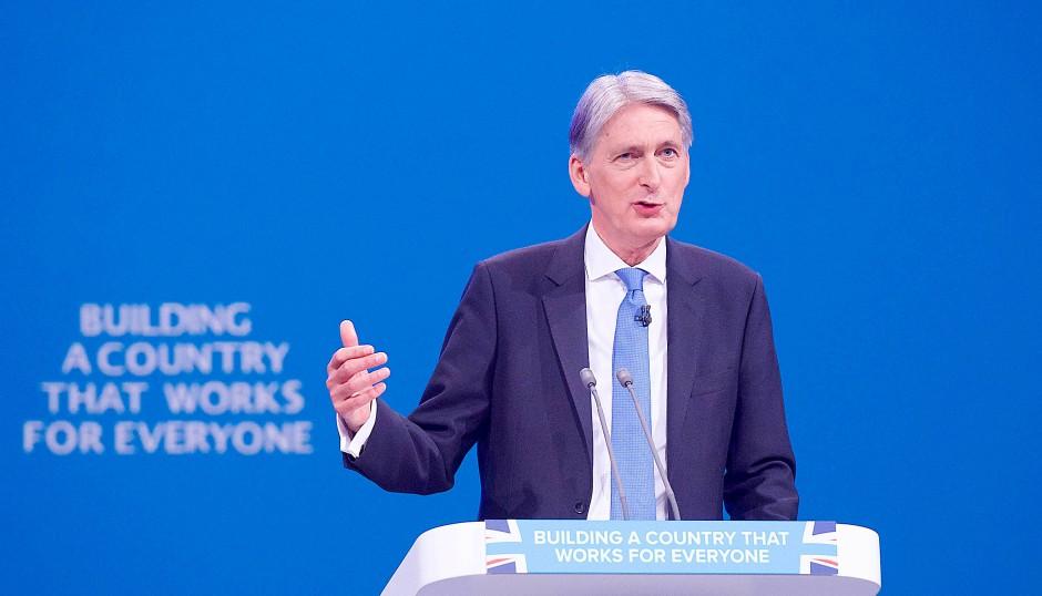 Schatzkanzler Philip Hammond auf dem Parteitag der Konservativen