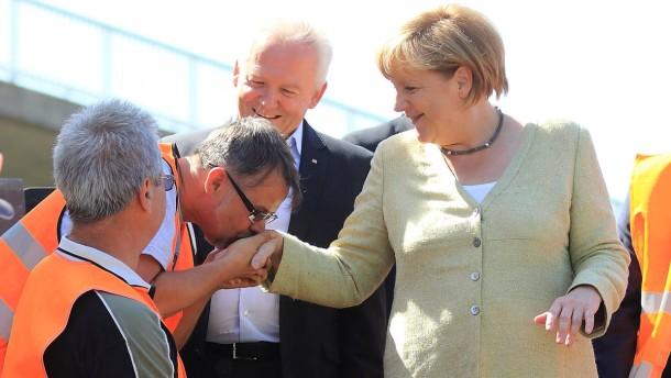 Bundeskanzlerin Merkel in Schönhausen