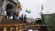 Mitte Februar protestierten wieder Demonstranten auf dem Majdan in Kiew. Das Assoziierungsabkommen war der Hauptgrund für die Ukraine-Krise im Februar 2013