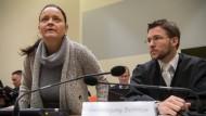 Die mutmaßliche Rechtsterroristin Beate Zschäpe vor Gericht.