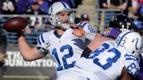 Indianapolis Colts versus Baltimore Ravens
