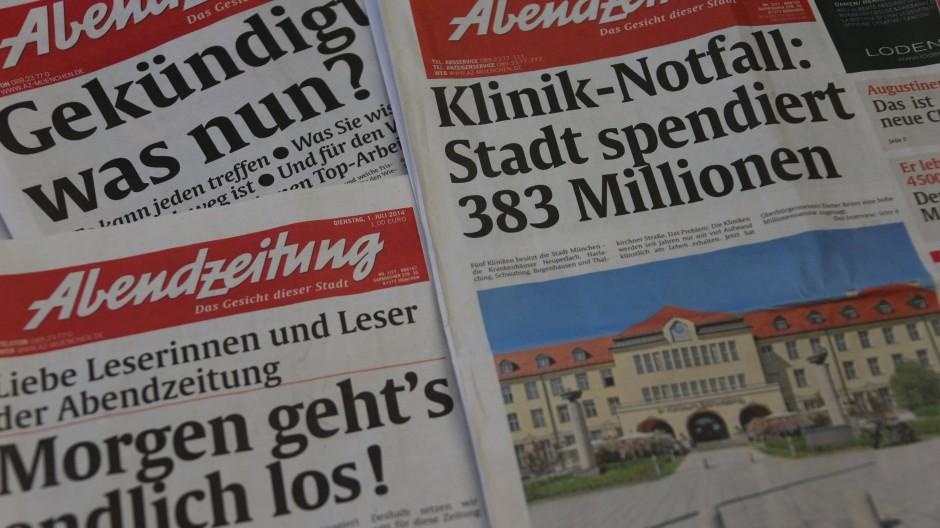 Die ersten Ausgaben nach der Rettung: Die Münchner AZ erscheint wieder in voller Länge