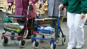 Ältere Menschen sind zu dick