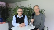 Das F.A.Z.-Digitec-Podcast-Team: Alexander Armbruster (l.) und Carsten Knop