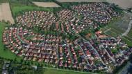 Wohngebiet mit Einfamilienhäusern im niedersächsischen Sarstedt