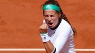 Jelena Ostapenko überrascht bei den French Open in Paris und steht im Halbfinale.