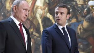 Macron droht mit Vergeltung bei neuen Chemiewaffen-Angriffen