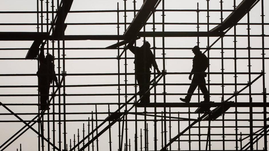 Entsandte Arbeiter im Baugewerbe (Symbolbild)