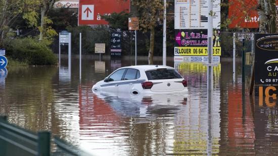 Starke Überschwemmungen in Südfrankreich