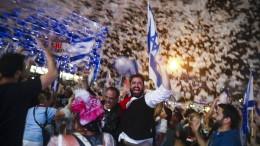 Israelis feiern Netanjahus Abgang