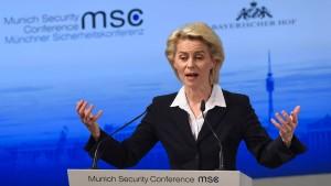 Von der Leyen: Russland und Syrien betreiben doppeltes Spiel