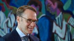 Bundesbankchef Weidmann tritt ab