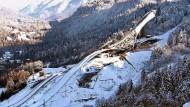 Der Bau der neuen Skisprungschanze in Garmisch-Partenkirchen