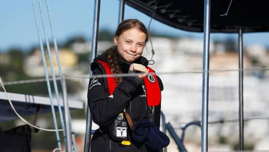 Greta Thunberg segelt in Richtung Klimagipfel