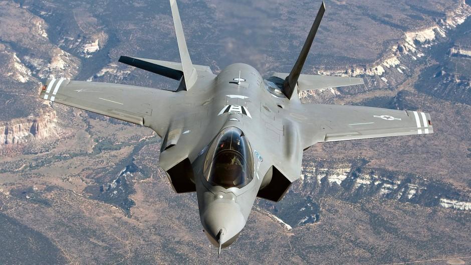 Ein F-35A-Kampfflugzeug