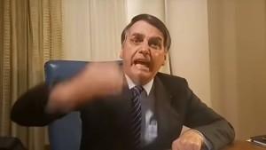 Präsident Bolsonaro außer sich