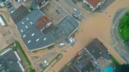 Stadt Hagen unter Wasser