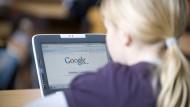 Nicht so leicht zu verstehen: Google auf einem Schüler-Laptop.