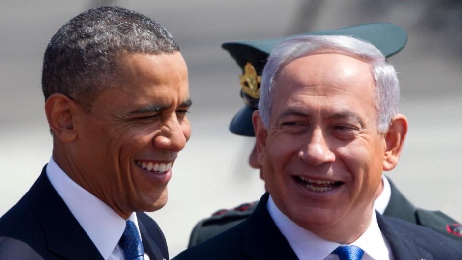 Gute Miene: Barack Obama, Benjamin Netanjahu