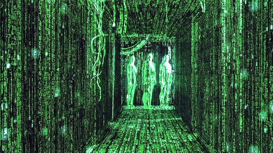 """Was wäre,  wenn wir tatsächlich in einer Computersimulation  lebten? Würden wir  den Unterschied  zur Wirklichkeit erkennen? Szene aus dem Film """"Matrix""""."""