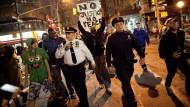 Demonstranten in New York.